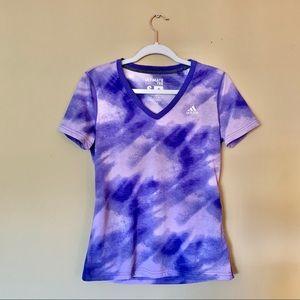 NWT Adidas Purple Ultimate Short Sleeve Tee Size S